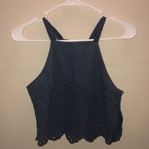 Cropped tank top: Abercrombie & Fitch